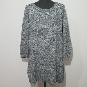 Lane Bryant Grey Tunic Sweater with Buttons